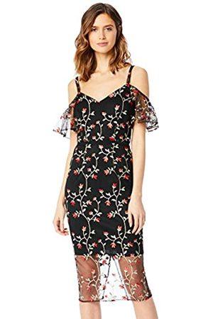 TRUTH & FABLE Amazon Brand - Women's Midi Lace Off-shoulder Dress, 16