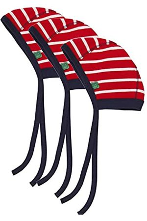 Green Cotton Baby Stripe hat 3-Pack, (Cream/ 019800001)