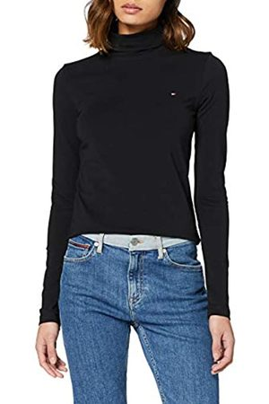 Tommy Hilfiger Women's TH Essential ROLL-NK TOP LS Sports Knitwear