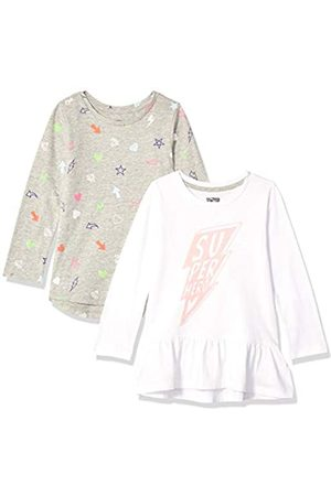Spotted Zebra 2-pack Long-sleeve Tunic Tops T-Shirt, Medium (8) US