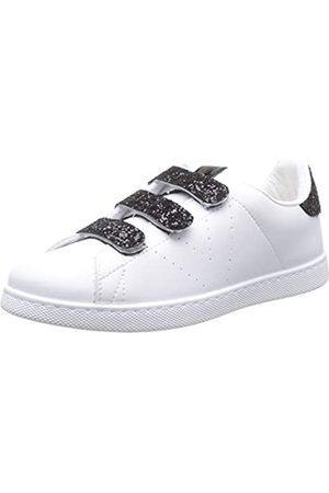 victoria Unisex Adults' Tenis Velcros Pu/Glitter Trainers, (Blanco 20)