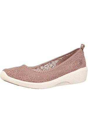 Skechers Women's Arya - AIRY Days Closed Toe Ballet Flats, (Mauve Crochet/ Trim Mve)