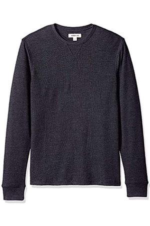 Goodthreads Amazon Brand - Men's Long-sleeve Slub Thermal Crewneck T-Shirt, (heather charcoal)