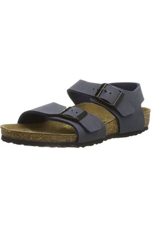 Birkenstock Unisex Kids' New York Sandals, Bleu (Navy)
