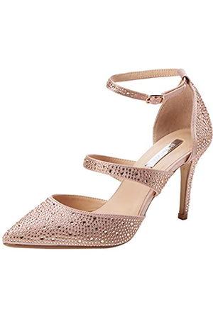 Dorothy Perkins Women's Gingera Diamante Trim Court Shoes Closed Toe Heels, (Blush 155)