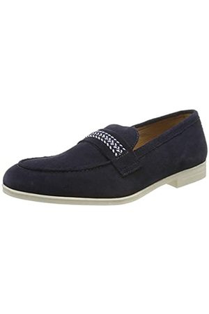 H by Hudson Men's CINDERFORD Suede Loafers, (Navy 02)