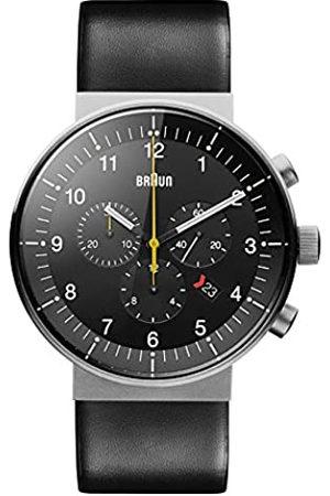 von Braun Men's Quartz Watch with Dial Analogue Display and Leather Strap BN0095SLG