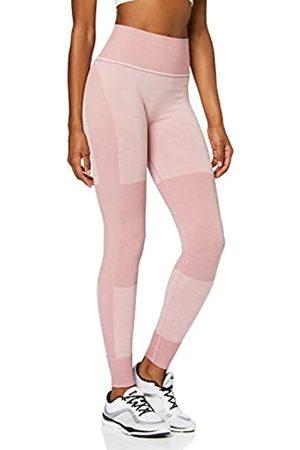 AURIQUE Amazon Brand - Women's Seamless Colour Block Sports Leggings, 12