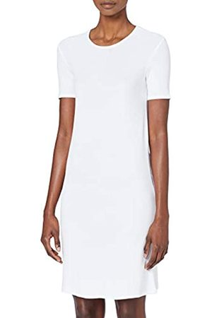 MERAKI Women's Slim Fit Rib Summer T-Shirt Dress