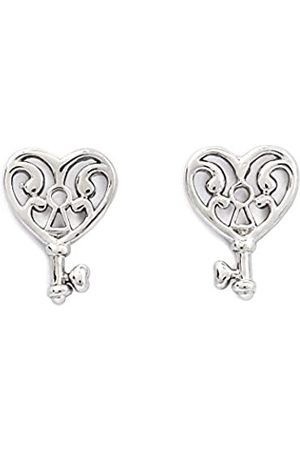 Silver Willow Chrysalis Rhodium plate Key of life stud earrings. Wear your gorgeous earrings and welcome love