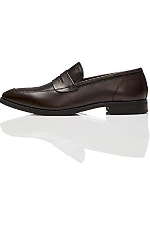 FIND Amazon Brand - Men's Loafers, (Chocolate)