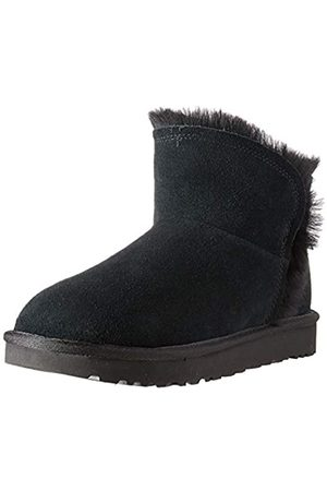 UGG Women's W Classic Mini Fluff HIGH-Low Ankle Boots, ( BLK)