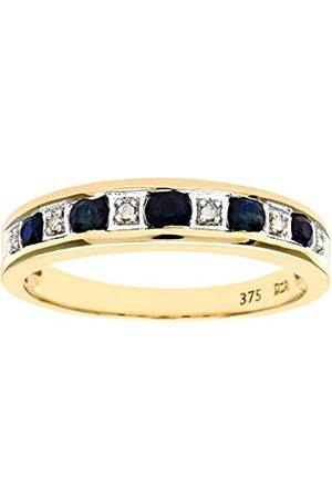 Naava Women's Eternity Ring9 ct Diamond and Sapphire RingChannel Set