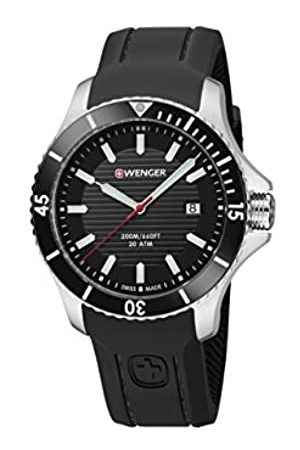 Wenger Men's Seaforce - Swiss Made Analogue Quartz Stainless Steel Silicone Strap Watch 01.0641.117