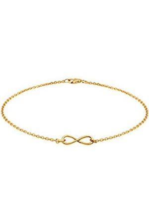 Elli Women's 925 Sterling Silver Plated Xilion Cut Chain Bracelets of Length 18 cm