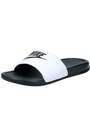 Nike Men's Benassi Just Do It Slides, (Weiß/Schwarz)