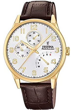 Festina Mens Multi dial Quartz Watch with Leather Strap F20279/A