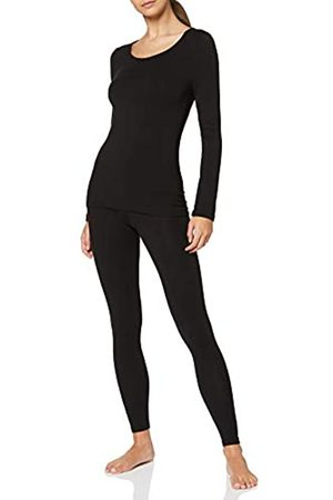 Maglev Essentials Damen Thermounterwäsche Set Thermal, Schwarz