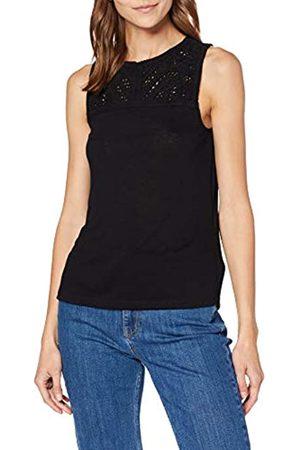 Springfield Women's 8.T. Cuello Crochet Fake-Lino T-Shirt, (Negro 1)