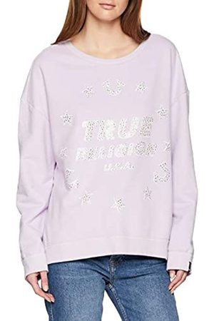 True Religion Women's Crew Sweat Stars Lavendar Sweatshirt