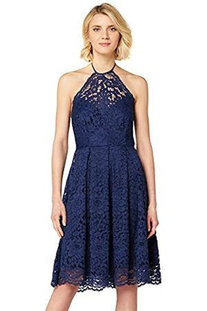 TRUTH & FABLE Amazon Brand - Women's Lace Halter Dress, 8