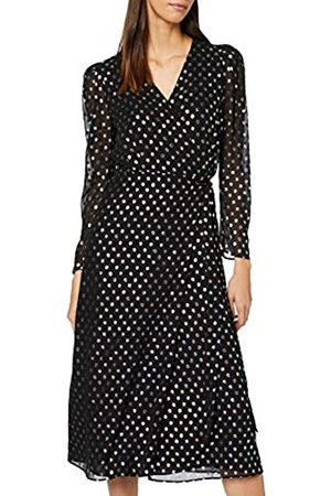 Warehouse Women's Petrol Spot Wrap Dress