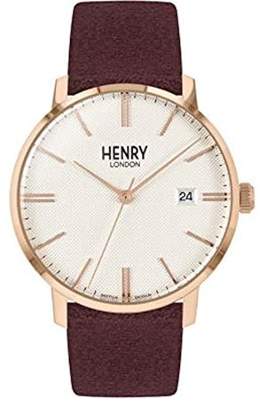 Henry London Unisex Adult Analogue Classic Quartz Watch with Leather Strap HL40-S-0356