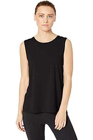 Core 10 Soft Pima Cotton Stretch Full Coverage Yoga Sleeveless Tank Shirt