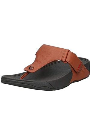 Fitflop Men's Trakk Ii Toe Thongs Open Sandals, (Dark Tan 277)