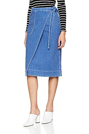 Tommy Hilfiger Women's Skirt Lylyan Midi Plain 40 (Taille fabricant: 38) Skirt