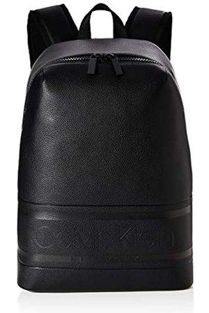 Calvin Klein Striped Logo Pu Round Backpack, Men's (Blackwhite )