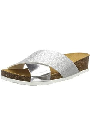 LICO Women's Bioline Prime Low-Top Slippers, (Silber Silber)