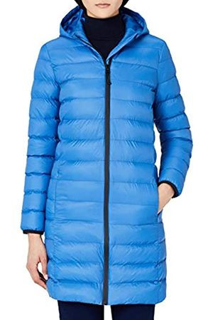 MERAKI Women's Longline Puffer Jacket with Hood