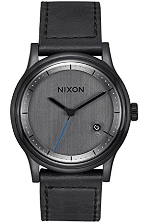 Nixon Mens Analogue Quartz Watch with Leather Strap A1161-001-00
