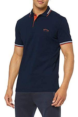 BOSS Men's Paul Curved Plain Slim Fit Polo Shirt