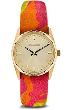 Zadig & Voltaire Unisex Watch Analogue Display and Nylon Strap ZVF205