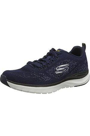 Skechers Men's Ultra Groove Trainers, (Navy Flat Knit/Trim NVY)