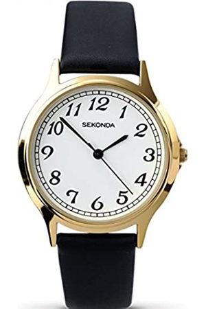 Sekonda Unisex Adult Analogue Classic Quartz Watch with Leather Strap 3134.27