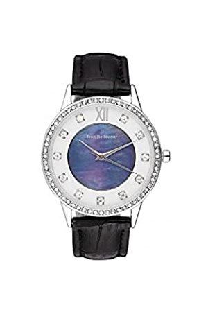 Jean Bellecour Unisex-Adult Analogue Classic Quartz Watch with Leather Strap REDK3