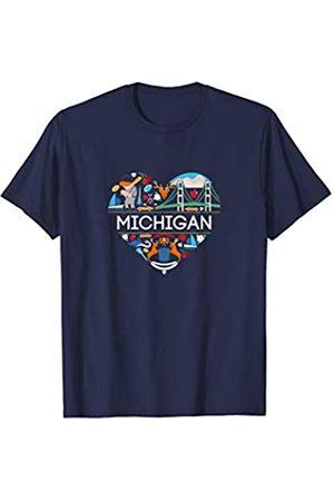 Ann Arbor T-shirt Co. I Love Michigan | MI Pride | Cute Michigan Shirt