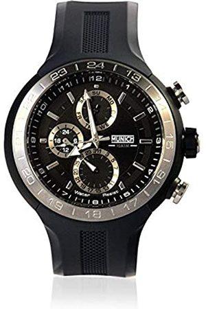 Munich Unisex Adult Analogue Quartz Watch with Rubber Strap MU+114.1B