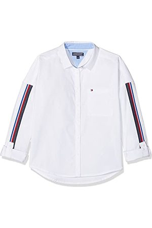 Tommy Hilfiger Girl's Oversized Tape Detail Shirt L/s Blouse