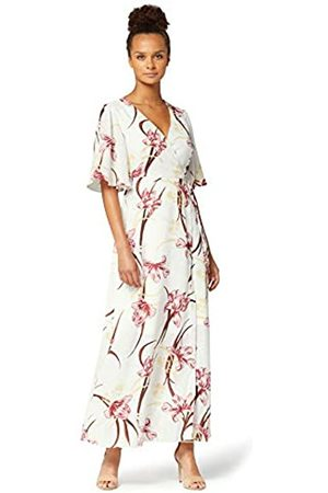 TRUTH & FABLE Amazon Brand - Women's Maxi Chiffon A-Line Dress, 20