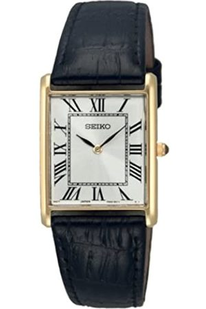 Seiko Men's Analogue Quartz Watch with Calfskin Strap – SFP608