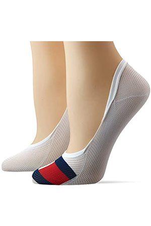 Tommy Hilfiger Women's Th Footie 2p Mesh Flag Ankle Socks