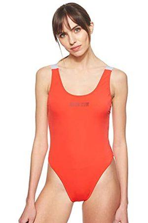 Calvin Klein Women's Scoop One Piece-rp Bikini, (Fiery XA7)