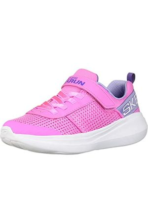 Skechers Girls' GO Run Fast Viva Valor Trainers, ( Mesh/Lavender Trim Pklv)