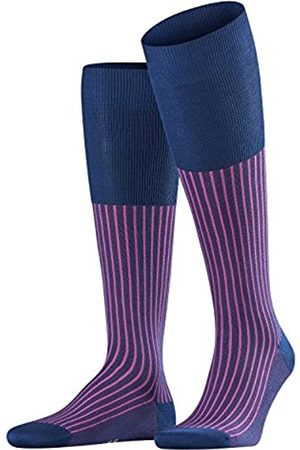 Falke Men Oxford Stripe Knee-Highs - Cotton Blend, UK 5.5-6.5 (Manufacturer size: 39-40)