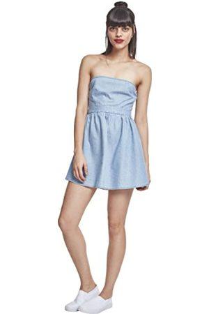 Urban classics Women's Ladies Denim Bandeau Dress