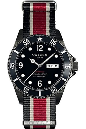 Oxygen Moby Dick 40 Mens Quartz Watch with Dial Analogue Display and Nylon Strap EX-D-MBB-40-NN-BLIVRE